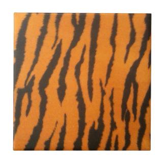 Tigre rayado azulejo cuadrado pequeño