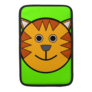 Tigre redondo lindo del dibujo animado funda  MacBook