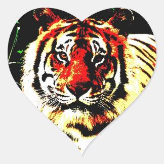 Tigre retro etiquetas