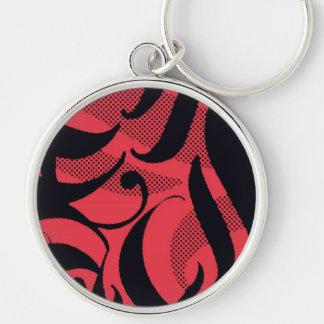 Tigre rojo diseño negro rojo plantilla llaveros