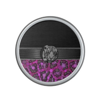Tigre rosado púrpura del guepardo altavoz bluetooth