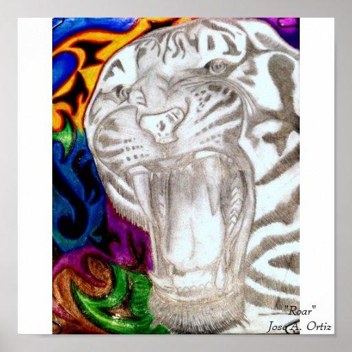 "Tigre, ""rugido "" Jose A. Ortiz Posters"