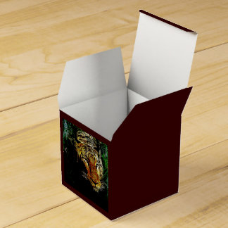 Tigre salvaje abstracto hermoso cajas para detalles de boda