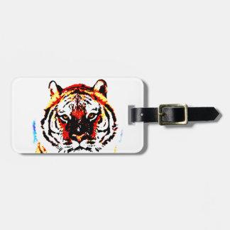 Tigre salvaje etiquetas maletas
