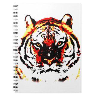 Tigre salvaje libro de apuntes con espiral