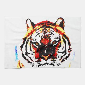 Tigre salvaje toallas de cocina