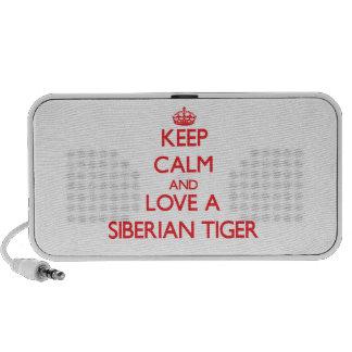 Tigre siberiano altavoces de viajar