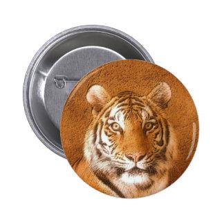 Tigre siberiano - botón pin redondo de 2 pulgadas