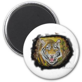 Tigre siberiano imán para frigorífico