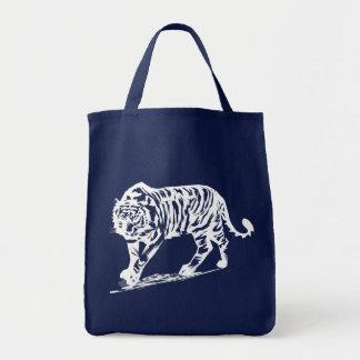 Tigre simple en las tazas blancas bolsas de mano