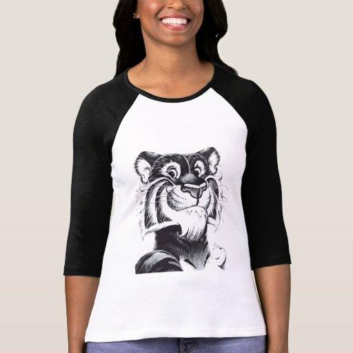 ¡Tigre sonriente! - Señoras 3/4 raglán de la manga Camiseta