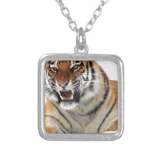Tigre Square Pendant Necklace