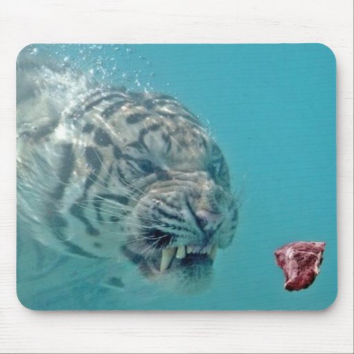 tigre subacuático tapete de ratón