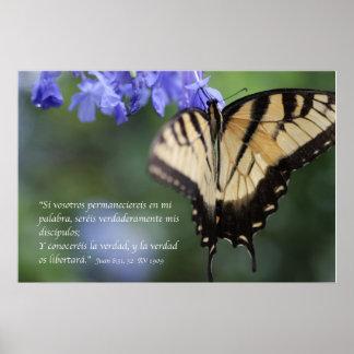 Tigre Swallowtail de Mariposa de la estafa del 8:3 Póster