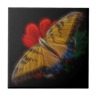 Tigre Swallowtail del fractal de Butterfaly Azulejo Cuadrado Pequeño