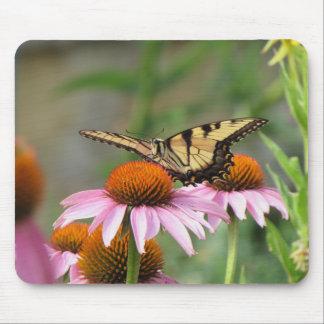 Tigre Swallowtail en Coneflower púrpura Mousepad
