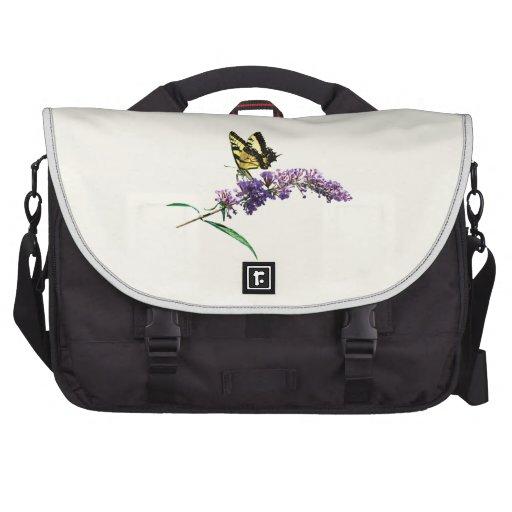 Tigre Swallowtail en la mariposa Bush púrpura Bolsas Para Portátil