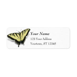 Tigre Swallowtail Etiqueta De Remitente