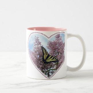 Tigre Swallowtail_lilacs Taza De Café De Dos Colores