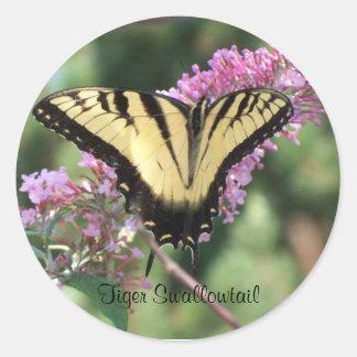 Tigre Swallowtail Pegatina Redonda