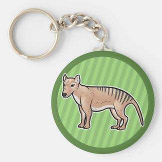 Tigre tasmano llavero redondo tipo pin