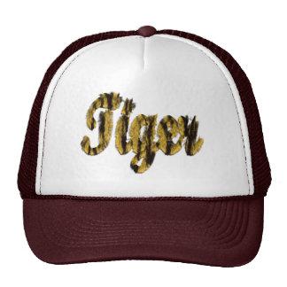 Tigre - texto peludo gorras