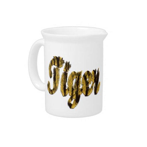 Tigre - texto peludo jarras para bebida
