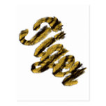 Tigre - texto peludo tarjetas postales