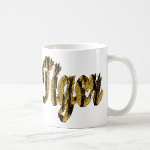 Tigre - texto peludo taza