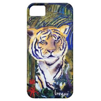 Tigre, tigre en la caja del teléfono de la noche funda para iPhone SE/5/5s