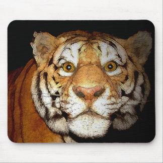 Tigre tigre en la noche II Tapete De Ratones