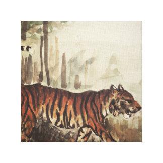 Tigre, tigre impresión en lienzo