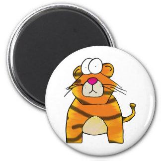 Tigre timorato imán redondo 5 cm