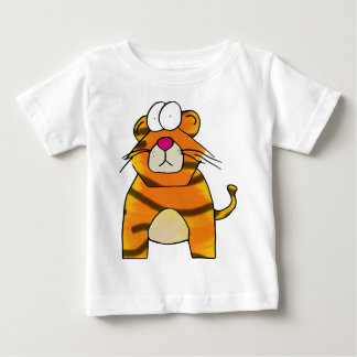 Tigre timorato playera de bebé