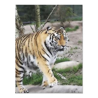 tigre toony invitaciones magnéticas