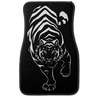 Tigre tribal de acecho alfombrilla de coche