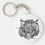 Tigre tribal llavero personalizado