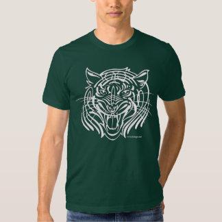 Tigre tribal playeras