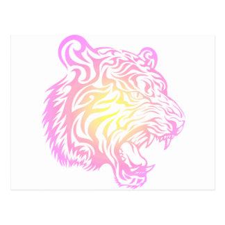 Tigre tribal tarjeta postal