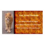 Tigre urbano tarjetas de visita