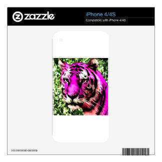 Tigre violeta iPhone 4S skin