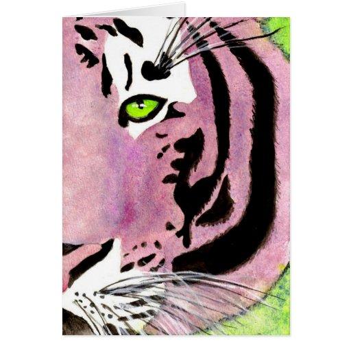 Tigre violeta Notecards Tarjeta De Felicitación