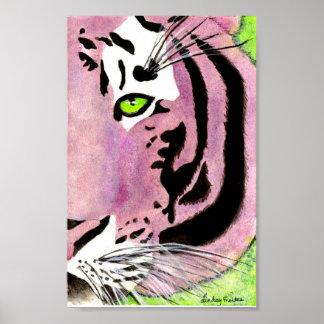 Tigre violeta impresiones