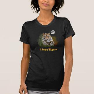 Tigre y cachorros camiseta
