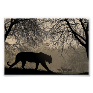 Tigre y ciervos posters