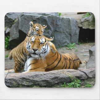 Tigre y Cub Mousepad Tapete De Ratón