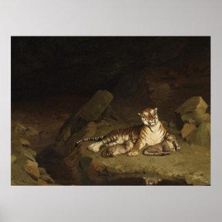 Tigre y Cubs Jean-León Gerome 1884 Poster