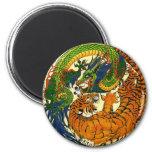 Tigre y dragón Yin Yang Imanes De Nevera