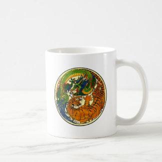 Tigre y dragón Yin Yang Tazas