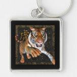 Tigre y llavero chino del premio del símbolo